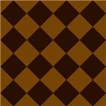 Rich Brown Checkerboard