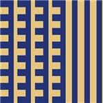 Tan and Blue Teeth Comb Stripes