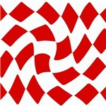 Red and White Checkerboard Twist