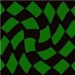 Black and Green Checkerboard Twist