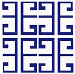 Dark Blue Greek Tiles