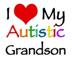 I love my autistic grandson t-shirt. Support the a