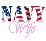 Navy Wife. NAvy wife t-shirts withe the US flag in
