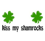 St. Patrick's Day t-shirts. Kiss my Shamrocks.