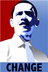 Obama Change. Get the Obama Change t-shirts, poste