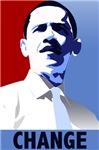 Obama Change. Get the Obama Change t-shirts, poste