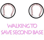 Second Base T-shirts. Walk.
