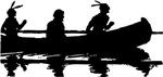 Native Americans In Canoe