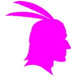 Pink Native American Outline