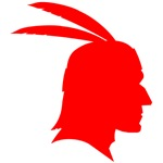 Red Native American Outline