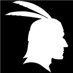 White Native American Outline