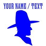 Custom Blue Cowboy Silhouette