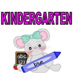 KINDERGARTEN. WITH CUTE MOUSE