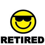 RETIRED WITH SMILEY FACE