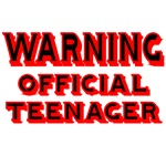 WARNING. OFFICIAL TEENAGER