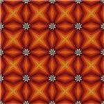 Orange Expanding Stars Pattern