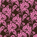 Pink and Brown Leafy Flourish Pattern
