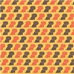 Orange and Brown Lion Pattern