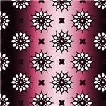 Gradient Pink Flower Pattern