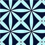 Blue Long Petal Pattern