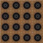 Black and Brown Wheel Pattern