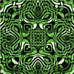 Green and Black Tribal Design