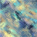 Blue Shiny Metal Effect Cross Hatched Pattern