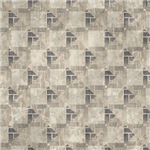 Contemporary Gray Interconnecting Squares Pattern