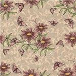 Pretty Purple Flowers and Butterflies Pattern