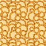 Gold Overlapping Circles Pattern