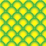 Yellow and Green Overlapping Circles Pattern