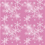 Pretty Pink Sparkly Snowflakes