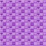 Cute Purple Hearts Pattern