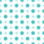 Pretty Turquoise Fluffy Flowers Pattern