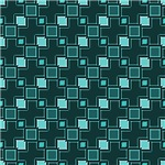 Turquoise Interconnecting Squares
