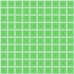 Green Squares In Squares Pattern