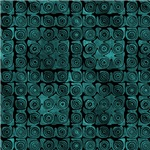 Dark Turquoise Swirl Pattern