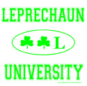LEPRECHAUN UNIVERSITY T-SHIRTS AND GIFTS