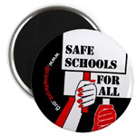 SAFE SCHOOLS BUTTONS & MAGNETS