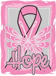 Hope Butterfly Breast Cancer Ribbon Shirts