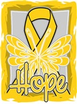 Hope Butterfly Childhood Cancer Ribbon Shirts