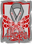 Hope Butterfly Brain Cancer Ribbon Shirts