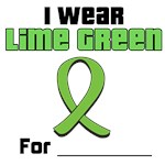 I Wear Lime Green Ribbon T-Shirts & Gifts