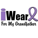 I Wear Violet Ribbon For My Grandfather Shirts