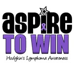 Aspire to Win Hodgkin's Disease Awareness T-Shirts