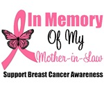 In Memory of My Mother-in-Law Breast Cancer Shirts