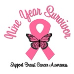 9 Year Breast Cancer Survivor T-Shirts