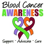 Blood Cancer Awareness Ribbons T-Shirts