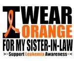 I Wear Orange Sister-in-Law Leukemia Shirts