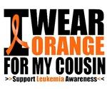 I Wear Orange For My Cousin Leukemia Shirts